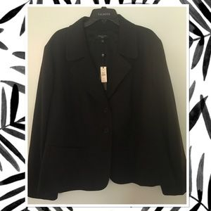 Talbots NWT Black Kate Fit Career Jacket